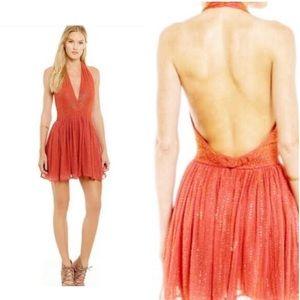 🆕 Chelsea & Violet Sequin/ Beaded Halter Dress